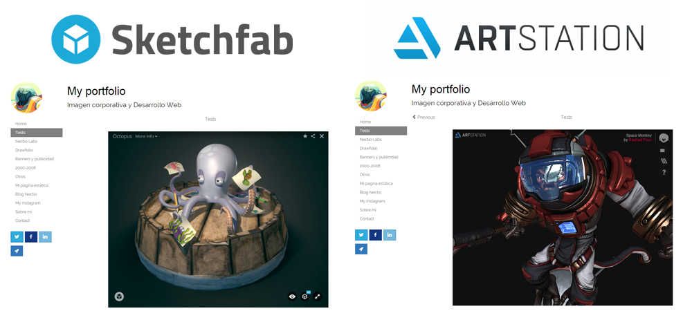 Sketchfab and Artstation Integration