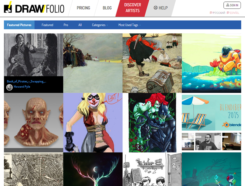 Discover Artists: Featured Pictures and Tagging Images