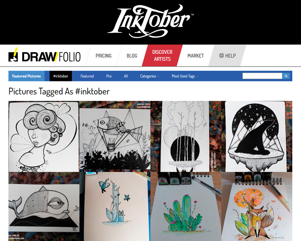 Discover the #inktobers from our users